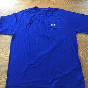 Under Armour Men's Blue Short Sleeve Shirt Sz XXL
